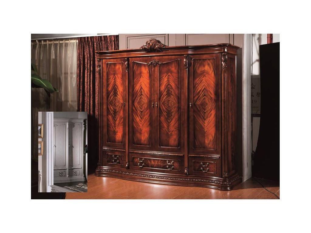 5102292 carpenter шкаф 4-х дверный (белый, золото) изабелла.