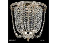 Catic Company: люстра потолочная 411/40 С (золото, хрусталь фуме)