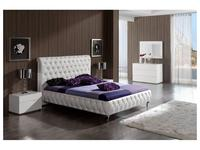Dupen кровать двуспальная 160х200 Адриана (белый) Adriana