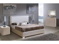 Dupen кровать двуспальная 180х200 с подъемным механизмом (бежевый) Manhattan