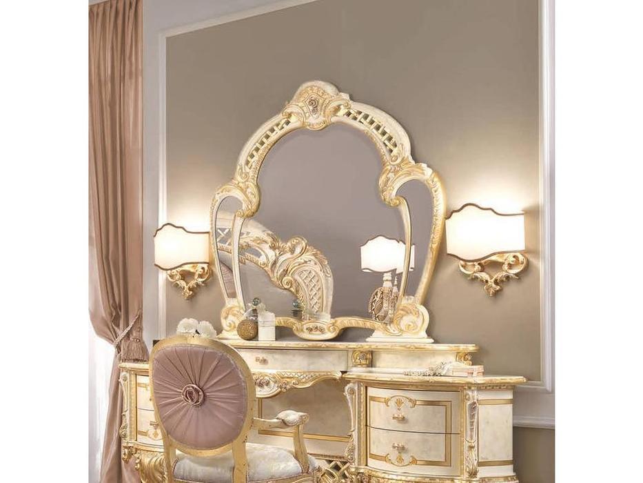 F.lli Pistolesi зеркало настенное для стола туалетного (бежевый, золото) Regina