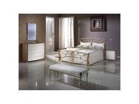 Proforma Diseno кровать двуспальная 180х200 без р/м (черешня, белый с патиной) Madrid