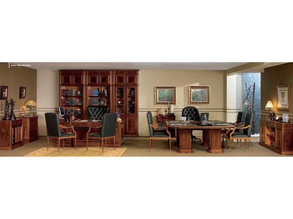 Inter CL. Mobilia кабинет руководителя  (орех, корень ясеня, зеленый) Prestige