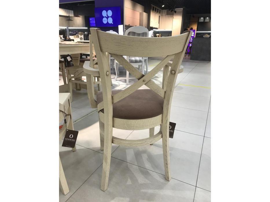 Оримэкс стул с подлокотниками  (беленый дуб) Соло
