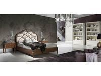 Monrabal Chirivella кровать двуспальная 180х200 Paris с обивкой (черешня) Valeria