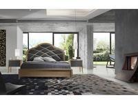 Monrabal Chirivella кровать двуспальная Paris 160х200 с обивкой (черешня) Valeria