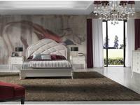 Monrabal Chirivella кровать двуспальная Paris 160х200 с обивкой (белый) Valeria