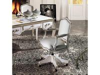 Angelo Cappellini кресло вращающееся  (белый, золото) Borromini