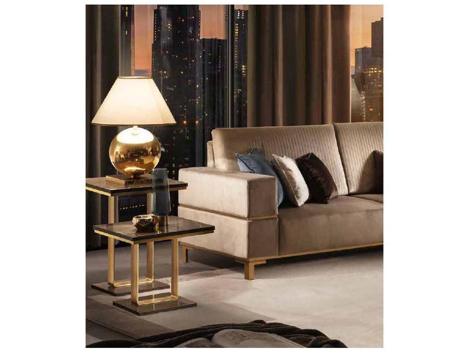 Arredo Classic стол кофейный h.50 (венге, коричневый, золото) Essenza