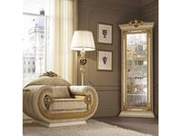Arredo Classic витрина угловая с короной (слоновая кость) Leonardo