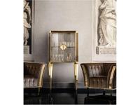 Arredo Classic витрина малая, дери стекло (слоновая кость, вяз, золото) Diamante