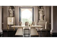Arredo Classic стол обеденный раскладной 250см (слоновая кость, вяз, золото) Diamante