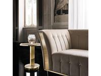 Arredo Classic стол кофейный  (слоновая кость, вяз, золото) Diamante