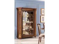 Arredo Classic стеллаж открытый, стенка зеркало, полки стекло (орех) Modigliani
