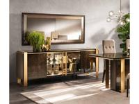 Arredo Classic буфет центральные двери стекло (венге, коричневый, золото) Essenza