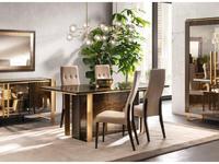 Arredo Classic стол обеденный 200 (венге, коричневый, золото) Essenza