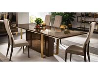 Arredo Classic стол обеденный раскладной 200/240/280 (венге, коричневый, золото) Essenza