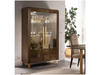 Arredo Classic витрина 2 дверная  (венге, коричневый, золото) Essenza