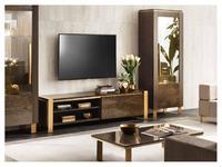 Arredo Classic тумба под телевизор  (венге, коричневый, золото) Essenza