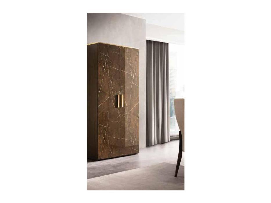 Arredo Classic шкаф 2 дверный  (венге, коричневый, золото) Essenza