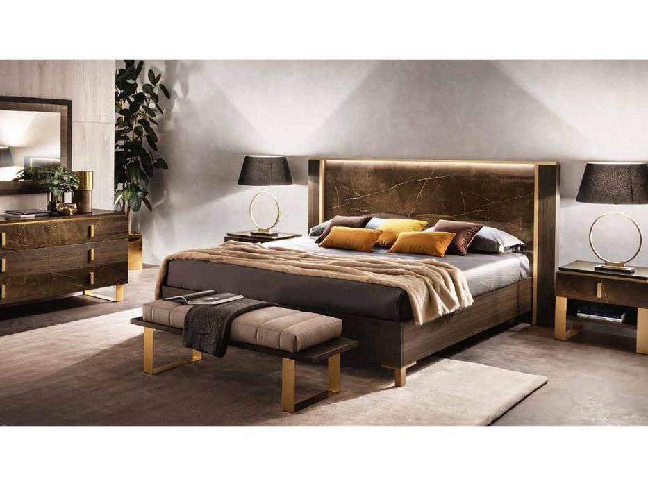 Arredo Classic кровать двуспальная 160х190 (венге, коричневый, золото) Essenza
