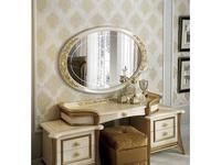 Arredo Classic зеркало настенное для туалетного стола (бежевый, золото) Melodia