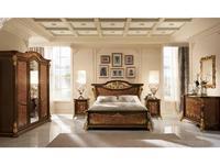 Arredo Classic кровать двуспальная  (орех, золото) Sinfonia