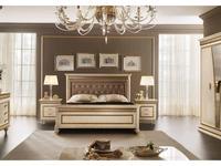 Arredo Classic кровать двуспальная 180х200 с мягкой спинкой (кремовый мраморный) Fantasia