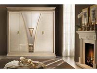 Arredo Classic шкаф 4-х дверный  (кремовый мраморный) Fantasia