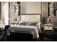 Arredo Classic кровать двуспальная 180х200 (слоновая кость, вяз, золото) Diamante