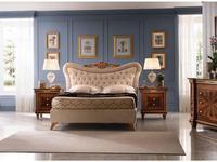 Arredo Classic кровать двуспальная 160х190 с мягкой спинкой (орех) Modigliani