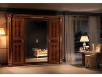 Arredo Classic шкаф 4 дверный 2 зеркала (орех) Modigliani