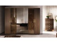 Arredo Classic шкаф 6-ти дверный  (венге, коричневый, золото) Essenza