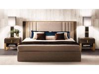 Arredo Classic кровать двуспальная 180х200 мягкая (венге, коричневый, золото) Essenza