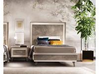 Arredo Classic кровать односпальная 110х190 (вяз светлый) Ambra