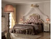 А М Ghezzani кровать двуспальная 180х200 без р/м мягк. Изгол (слоновая кость, золото) Версаль