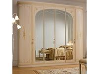 А и М Ghezzani шкаф 6-ти дверный распашной (слоновая кость, золото) Принцесса