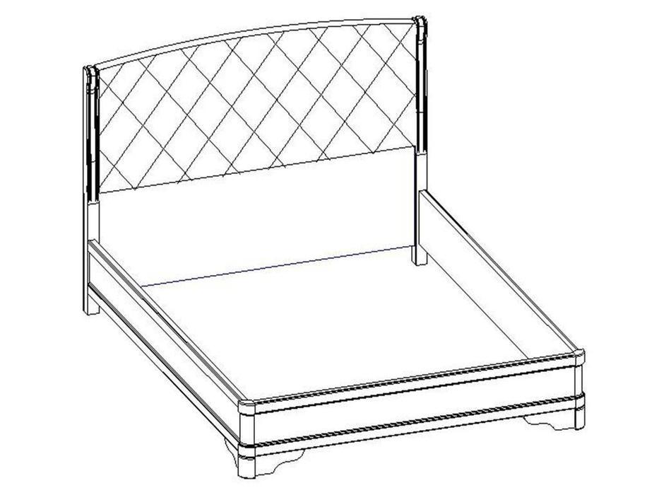 Liberty кровать односпальная 160х200 (белый ясень) Сильвия