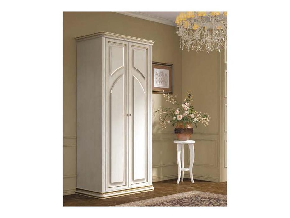 Liberty шкаф 2 дверный  (белый ясень, золотая патина) Сильвия
