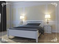 Liberty кровать 160х200 без изножья (слоновая кость, золото) Флоренция