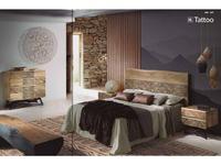Joenfa кровать двуспальная 180 (acacia natural) Tattoo