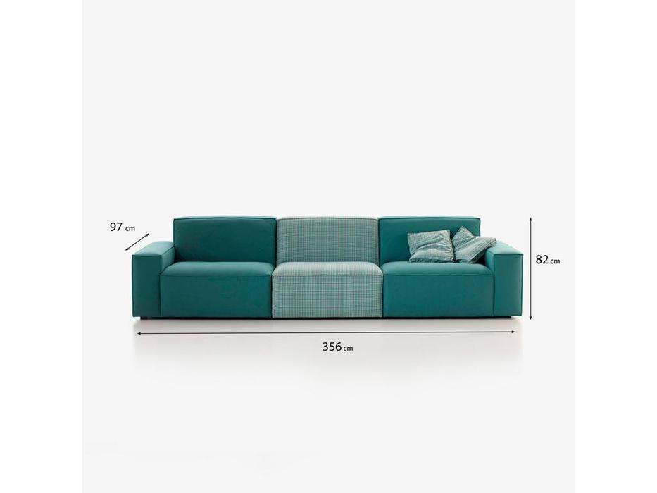 Frajumar диван 4 местный Cool (зеленый) Belta