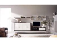 La Ebanisteria стенка в гостиную  (орех, белый) Bauhaus