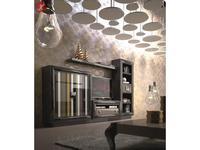 La Ebanisteria мебель для домашнего кинотеатра  (бежево-серый лак) Quantum