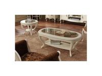 Panamar стол журнальный овальный (белый) Classic