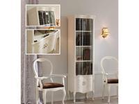 Panamar шкаф книжный со стеклянными дверцами (белый) Classic