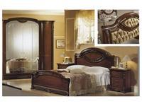 MobilPiu кровать двуспальная 180х200 спинка капитоне ткань (орех) Регина