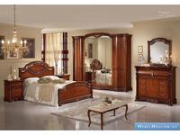 MobilPiu спальня классика с 6 дв.шкафом (орех) Регина