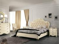 MobilPiu кровать двуспальная 160х190 (слоновая кость, золото) Виола