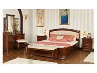 Mobex кровать двуспальная NT (орех, кожа) Элеганс